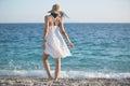 Summer Beach Fashion Woman Enj...