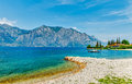 Summer beach of garda lake Royalty Free Stock Photo