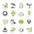 Summer and beach icons Royalty Free Stock Photo