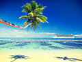 Summer beach paradise travel destination concept Royalty Free Stock Photo