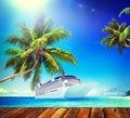Summer beach paradise travel destination concept Royalty Free Stock Photos
