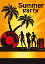 Summer beach party vector flyer template Royalty Free Stock Images