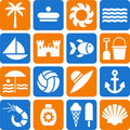Summer and beach pictograms Stock Image