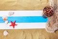 Summer Beach Scene Royalty Free Stock Photo