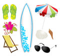 Summer beach set Royalty Free Stock Image