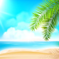 Summer beach sunny vector background Royalty Free Stock Image