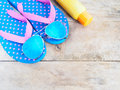 Summer beach vacation accessories Royalty Free Stock Photo