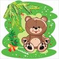 Summer bear Royalty Free Stock Photo