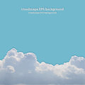 Summer beautiful cloudscape background Royalty Free Stock Images