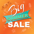 Summer Big Sale Promotion. Royalty Free Stock Photo