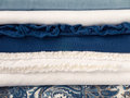Summer blue and white shades clothes Royalty Free Stock Photo