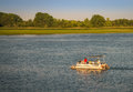 Summer boating pleasure on the south detroit river Stock Photo