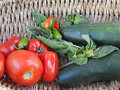 Summer bounty - Fresh vegetables Stock Photos