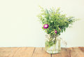 Summer Bouquet Of Flowers On T...
