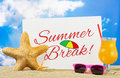 Summer break banner Royalty Free Stock Photo