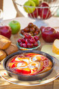Summer breakfast in garden served the Royalty Free Stock Images