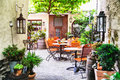 Summer cafe terrace Royalty Free Stock Photo