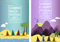 Summer camp.Poster template.Vector illustration