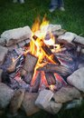 Summer Campfire Royalty Free Stock Photo