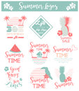 Summer card/background/ set of logos for sales