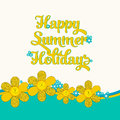 Summer card Royalty Free Stock Photo