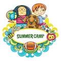 Summer Children frame series Royalty Free Stock Photo