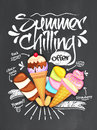 Summer Chilling Offer Template, Banner or Flyer. Royalty Free Stock Photo