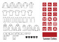 Summer clothes and clothes icon Stock Photo