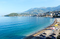 Summer coastline morning view (Albania) Royalty Free Stock Image