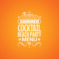 Summer cocktail party menu design background