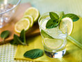 Summer cocktail refreshing with lime and mint Stock Photography