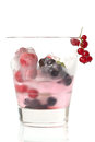 Summer cold drink with ice and berries Stock Image