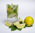 Summer cold mojito drink on a hot day Stock Photography