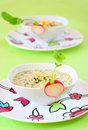 Summer cold soup( okroshka) Stock Photos