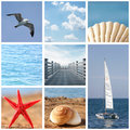 Summer collage Stock Photos