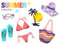 Summer collection Royalty Free Stock Photo