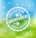 Summer collection rubber stamp vector illustration Stock Photo