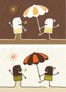 Summer colored cartoon