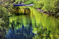 Summer colors green reflection wenatchee river washington reflections stevens pass leavenworth Stock Image
