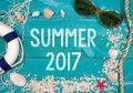 Summer 2017 Royalty Free Stock Photo