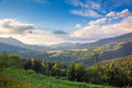 Summer day in The Mountain Valley Royalty Free Stock Photo