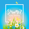 It is summer day