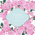 Summer delicate flowers card frame. Spring Season delicate watercolor flowers Wedding Invitation. Place for text. Vector
