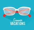 Summer design over blue background vector illustration Stock Images