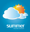 Summer design over sky background vector illustration Royalty Free Stock Images