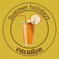 Summer design over yellow background vector illustration Stock Image
