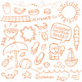 Summer Doodles Royalty Free Stock Photo