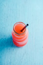 Summer drink with fruit punch juice Royalty Free Stock Photo