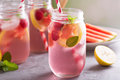 Summer drink watermelon and citrus lemonade Royalty Free Stock Photo