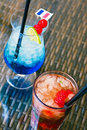 Summer drinks from above Stock Photography